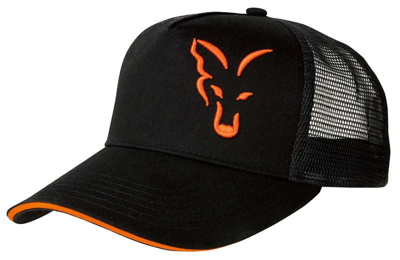 Šiltovka Black & Orange Trucker Cap
